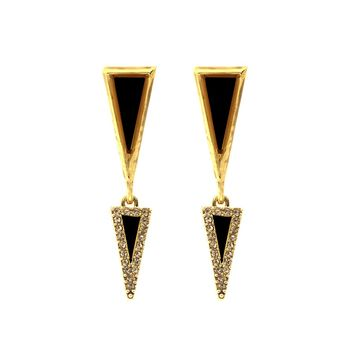 House of Harlow 1960 Jewelry Acute Pave Double Drop Earrings
