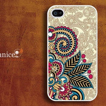 iphone case iphone 4s case iphone 4 cover sweet colorized classic flower unique Iphone case