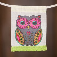 Owl  Mini  Inspiration  Flag  From  Natural  Life