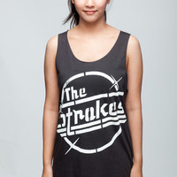 THE STROKES T Shirt Julian Casablancas Indie Band Women Black T-Shirt Vest Tank Top Singlet Sleeveless Size S M
