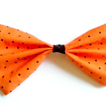 Halloween Polka Dot Big Hair Bow
