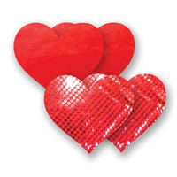 Nippies® Moulin Red Heart Pasties - Moulin Heart Pasties / Red / A-DD