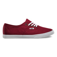 Vans Tortoise Eyelets Authentic Lo Pro (pomegranate)