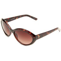 Cole Haan Women`s C 6035 21 Oval Sunglasses,Tort Frame/Brown Gradient Lens,One Size