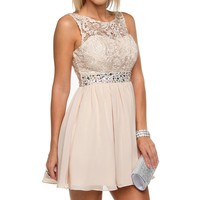 Champage Dream Lace Dress
