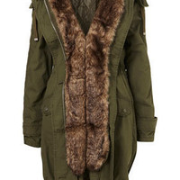 Fur Lined Parka - Jackets & Coats  - Apparel