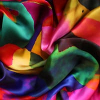 Rainbow Spot Silk Scarf
