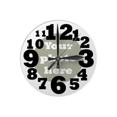Create your own numbered photo round wallclock from Zazzle.com