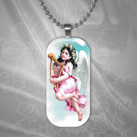 Pink Angel Glass Pendant