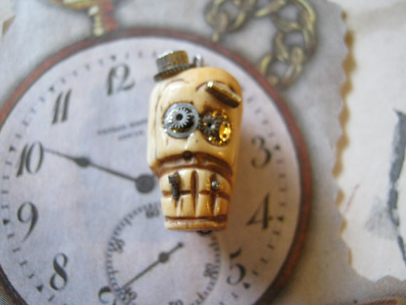 Steampunk Skull Bead