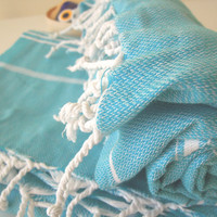 Turkish bath towel  turquoise fashion peshtemal Bath and Beauty  housewarming fashion gifts body wash spa spring home makeover