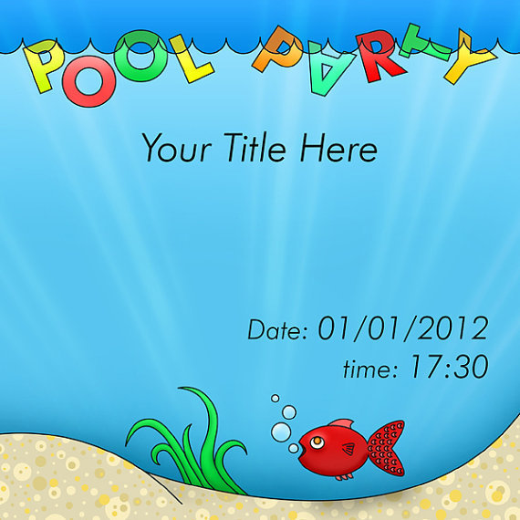 Pool Party Invitation Templates Free Printable Pool Party – Pool Party Invitations Printable