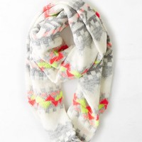 AEO Women's Bright Knit Loop Scarf (Cream)