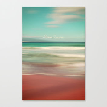 Ocean Dream IV Canvas Print by Pia Schneider [atelier COLOUR-VISION]