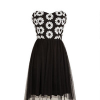 Daisy Sequin High-Low Dress - Black Multi