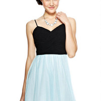 Pleated Glitter Tulle Dress