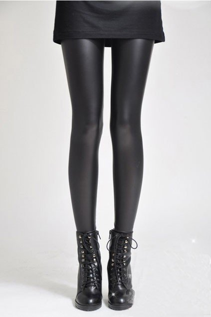 Faux Leather Black Skinny Leggings