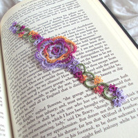 CIJ Rose Bookmark in Tatting Limited Edition 1 of 3 - Rosa