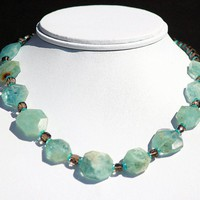 Aquamarine Nugget Necklace