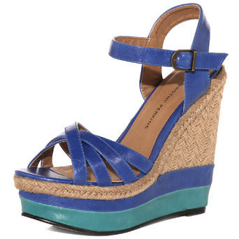 Blue wedge platforms. - View All New In Shoes - New In Shoes  - What&#x27;s New