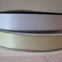Satin Ribbon, 7/8&quot; wide, SINGLE FACED,  great for sewing, weddings, special events, card-making, decorating