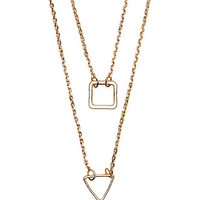 With Love From CA Delicate Geo Layered Necklace - Womens Jewelry - Gold - One