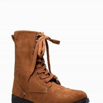 TWISTED SUEDE COMBAT BOOTS