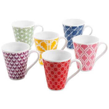 Clinton Kelly Effortless Table Set of Six Different Mugs
