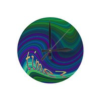 Time Warp Wall Clock from Zazzle.com