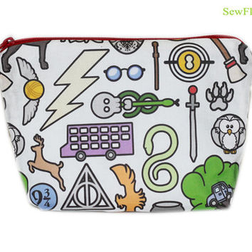 NEW Harry Potter Makeup Bag | Pencil Case | Makeup Organizer | Cosmetic Case | Toiletry Bag | Harry Potter Bag