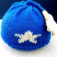 You are my little Star! hand knitted Baby hat