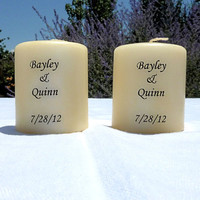 Custom Votive Candles with Names or Initials