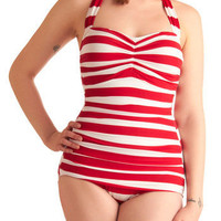 Esther Williams Snack Bar Beauty One Piece | Mod Retro Vintage Bathing Suits | ModCloth.com