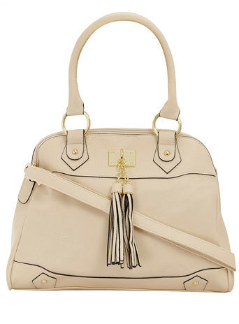 Cream tassel tote bag - Bags & Wallets  - Accessories  - Dorothy Perkins United States