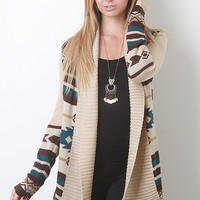 Ribbed Tribal Cardigan