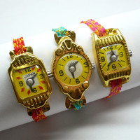 2pcs TIN TOY WATCH 1950s Vintage Japan