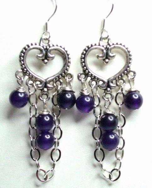 Chandelier Earrings-Amethyst