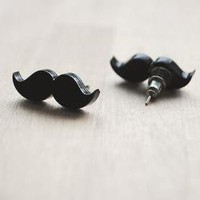 Moustache/Mustache Stud Earrings, N.. on Luulla