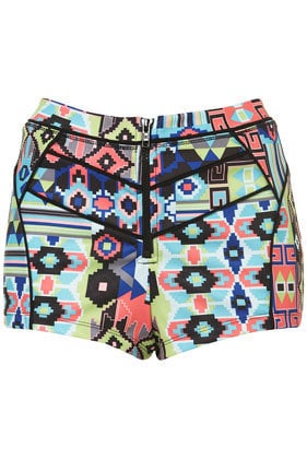 Bright Geo Knicker Shorts - New In This Week  - New In
