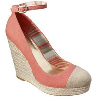 The Webster at Target® Women's Cap Toe Wedge Pump - Pink