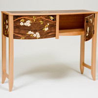 Walnut Burl Dogwood Buffet: Craig Thibodeau: Wood Buffet - Artful Home