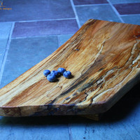 Cherry Curve Serving Board -Large- Wild Spalted Color Footed-Tagliere Rustico 105