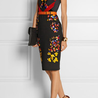 Peter Pilotto - Lera embellished wool, crepe and velvet dress