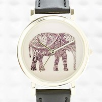 Elephant Watch in Black - Urban Outfitters