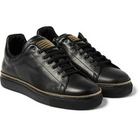Alexander McQueen - Zip-Embellished Leather Low-Top Sneakers | MR PORTER