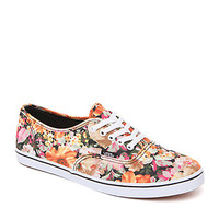 Vans Authentic Low Pro Coriander Floral Sneakers - Womens Shoes - Red