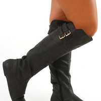 Don't Leave Me Boots: Black