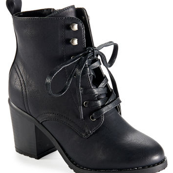Aeropostale Lace-Up Combat Boot - Black, 6