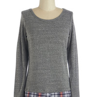 ModCloth Rustic Mid-length Long Sleeve See Ya Layered Top