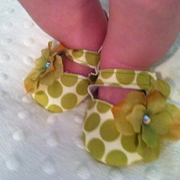 Polka Dot Mary Jane Shoe by pearlandpauper on Etsy